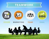 Business People Corporate Meeting Connection Teamwork Concept