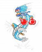 dragon cartoon boxing