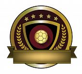 Illustration of golden soccer logo