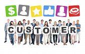 Customer Business People Team Teamwork Success Strategy Concept