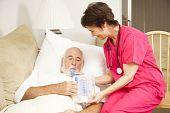 Home enfermagem - exercício de respiração
