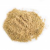 stock photo of cumin  - Moroccan cumin powder isolated on a white background - JPG