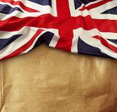 Union Jack flag on paper background