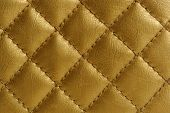 Golden Quilted Leather Background