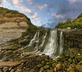 Waterfall At Osmington Mills In Dorset