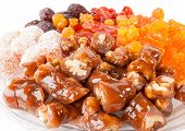 pic of sugar paste  - Walnuts in pastes plums - JPG