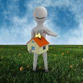 mortgage concept - white guy
