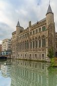 picture of gents  - Medieval Castle of Gerald the Devil near canal in Gent - JPG
