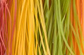 Multicolored Raw Noodles