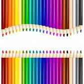 Color Pencils In Arrange In Color Row