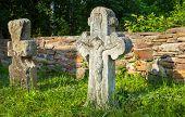 Old Crucifix Gravestones