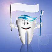 Funny Tooth With Toothbrush