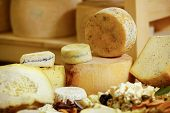 Assortment Of Organic Gourmet Cheeses