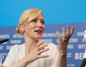 BERLIN, GERMANY - FEBRUARY 13: Cate Blanchett, 'Cinderella' press conference, 65th Berlinale International Film Festival at Grand Hyatt Hotel on February 13, 2015 in Berlin, Germany