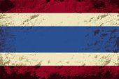 Thai flag. Grunge background. Vector illustration