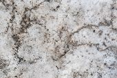 Abstract Slush From Pieces Of Snow And Ice