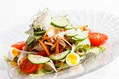 salad with vegetables and egg