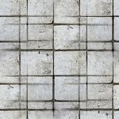 seamless tile texture square of old stone wall with a crack back