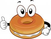 stock photo of bakeshop  - Mascot Illustration of a Bagel Giving a Thumbs Up - JPG