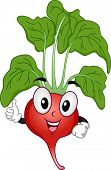 Mascot Illustration of a Radish Giving a Thumbs Up