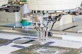 foto of sewing  - Sewing machine in Sewing Factory Chiang Mai Thailand - JPG