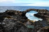 pic of canary  - Natural Stone Arch in El Hierro Canary Islands - JPG