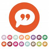 pic of quotation mark  - The Quote sign icon - JPG