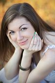 image of nose ring  - Portrait of a pretty girl on the nature - JPG