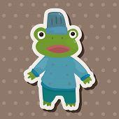 image of cute frog  - Animal Frog Chef Cartoon Theme Elements - JPG