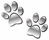 picture of paw-print  - icon design of a glassy paw prints - JPG