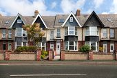 picture of edwardian  - English street of terraced houses - JPG