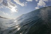 foto of hollow  - Wave ocean crashing breaking hollow water power swimming closeup - JPG