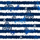 picture of triskele  - Dark blue grunge stripes with celtic triskels - JPG