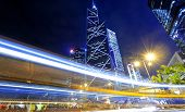foto of hong kong bridge  - hong kong traffic at night - JPG