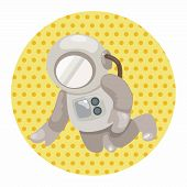 picture of spaceman  - Spaceman Theme Elements Vector - JPG