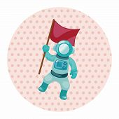 stock photo of spaceman  - Spaceman Theme Elements Vector - JPG