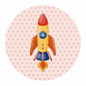 stock photo of spaceships  - Spaceship Theme Elements Vector - JPG