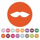 stock photo of moustache  - The moustache icon - JPG