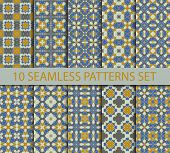foto of ten  - Set of geometric seamless patterns - JPG
