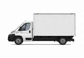 pic of designated driver  - Delivery Van isolated on white background - JPG