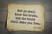 Постер, плакат: Top 500 Bible verses And ye shall know the truth and the truth shall make you free 