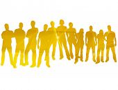 stock photo of person silhouette  - textures style of people silhouettes - JPG
