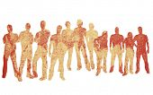 foto of person silhouette  - textures style of people silhouettes - JPG