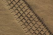 The  Car  Path In Sand