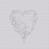 Graphic design heart on gray