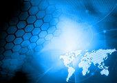 Постер, плакат: стиль технологии карты мира