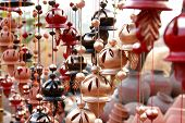 picture of windchime  - hanging decorative wind chimes made out of clay