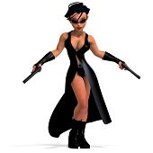 cute and funny female comic spy girl