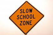 Slow School Zone poster