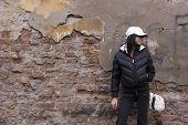 Girl And Grunge Wall